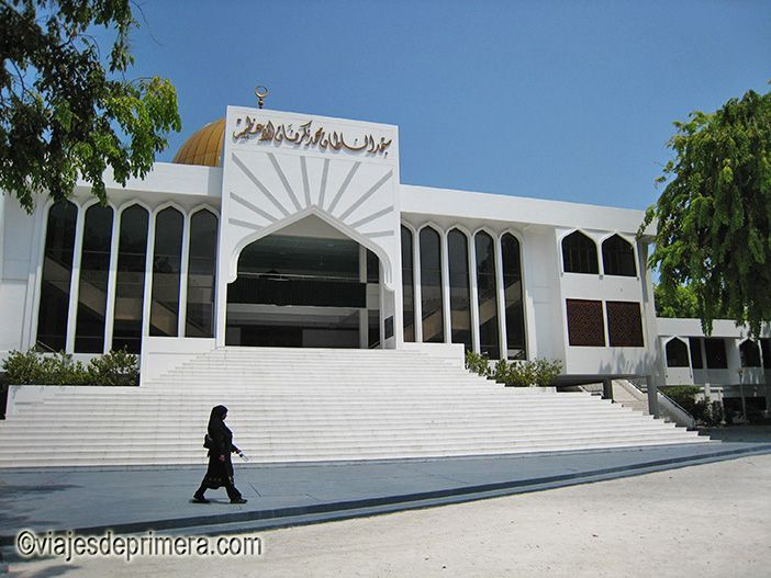 La Gran Mezquita de Malé, capital de Maldivas.