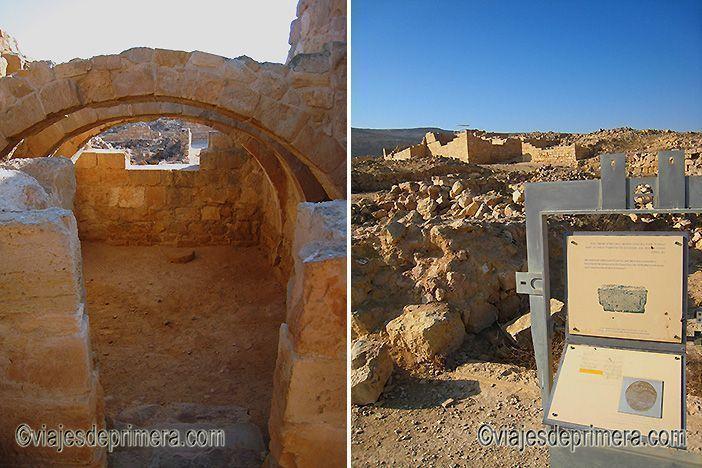 Mamshit, Avdat o Shivta son ciudades nabateas como Petra o Palmira, en el Desierto del Néguev de Israel