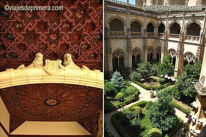 El Monasterio de San Juan de los Reyes de Toledo fue construido por los Reyes Católicos, que dejaron sus símbolos por todo el edificio.