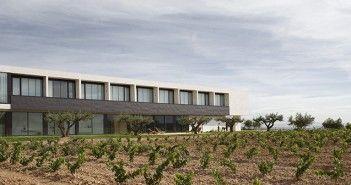 Fachada y viñedos del hotel cuatro estrella Finca Los Arandinos