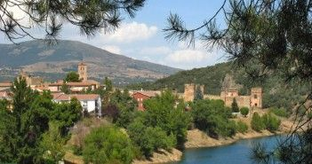 Paisaje de Buitrago de Lozoya, localidad de la Comunidad de Madrid