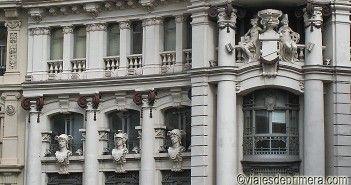 Fachada histórica del centro de Madrid