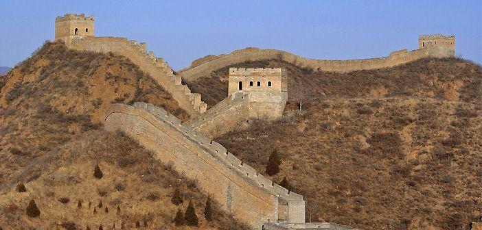 La Muralla China mide más de 20.000 kilómetros de longitud y atraviesa 15 provincias