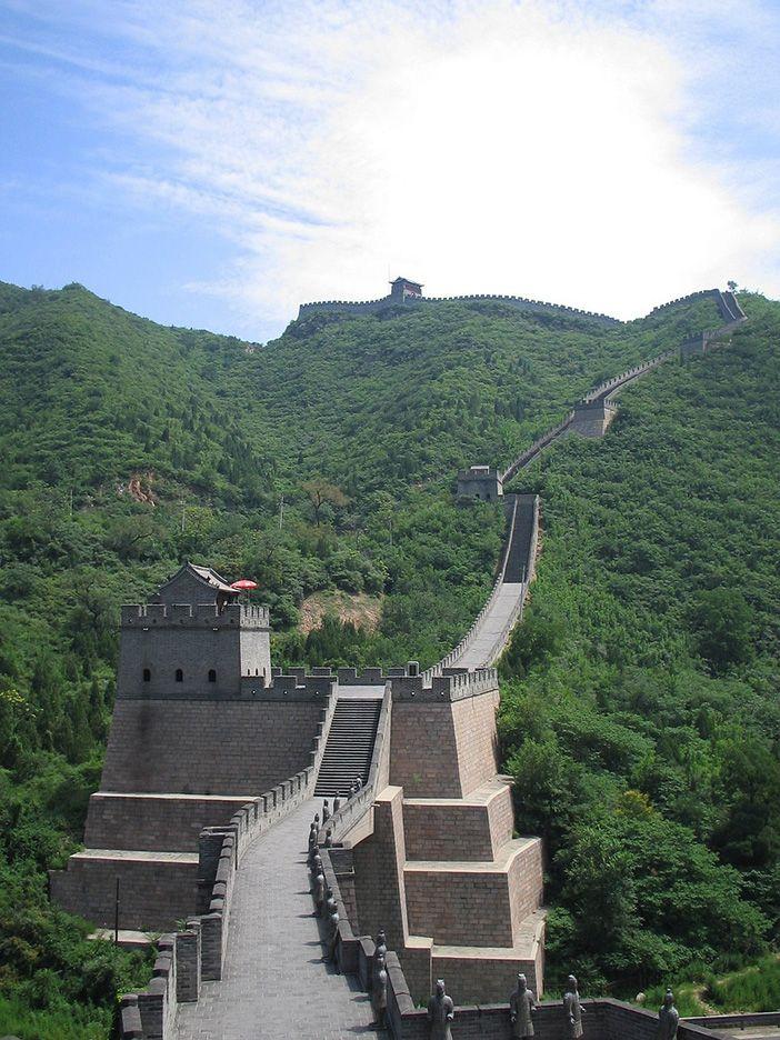 El tramo más visitado de la Gran Muralla china está a 75 kilómetros al Norte de la capital, Beijing