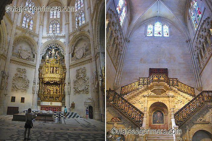 La Capilla de los Condestables y la Escalera Dorada de la Catedral de Burgos.