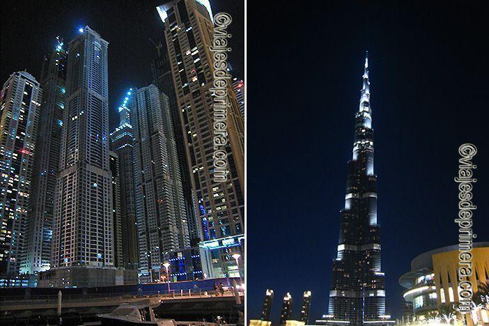 Marina Walk es el puerto deportivo de Dubái que puedes visitar de noche para tener imágenes como ésta.