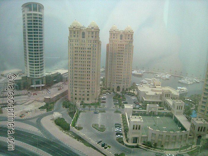 Vistas de Doha desde el hotel Movenpick
