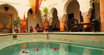 Los riads son los hoteles con encanto típicos de Marruecos
