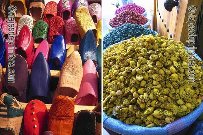 En los zocos de Marrakech podrás encontrar todo tipo de artesanía tradicional de Marruecos.