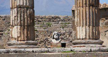 El templo de Zeus es uno de los lugares que visitar en Pompeya