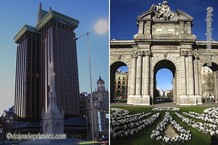 El Edificio Colón y la Puerta de Alcalá son dos de los lugares de interés de Madrid