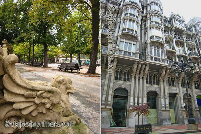 El Parque de San Francisco reúne muchas de las esculturas urbanas que puedes ver en Oviedo en dos días.