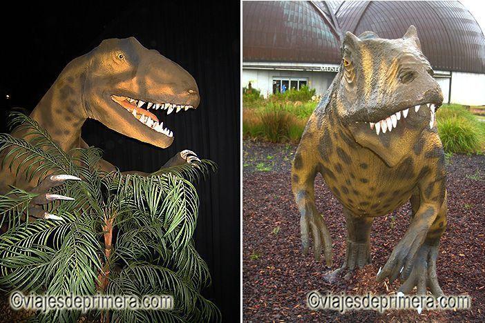 Dinosaurios en el interior del Museo del Jurásico de Asturias, en la Ruta de los Dinosaurios de Asturias