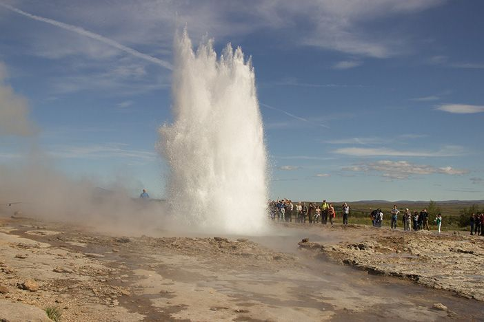 La palabra géiser significa surtidor y es de origen islandés