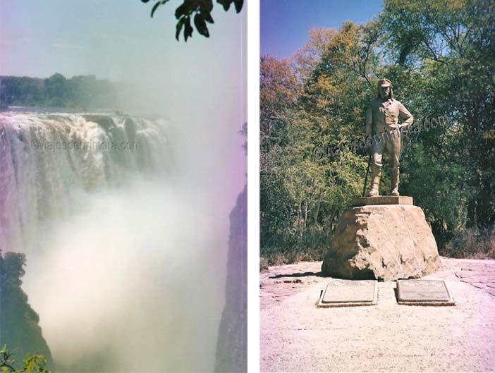 Las Cataratas Victoria están entre Zambia y Zimbabue