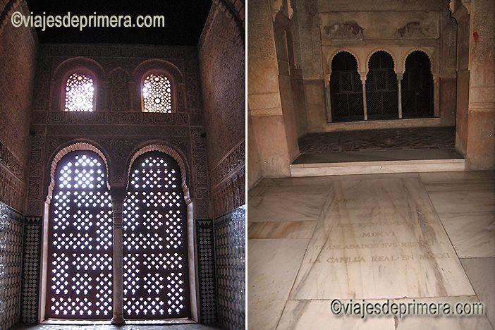 Estancias nazaríes en La Alhambra de Granada y el primer sepulcro de la reina Isabel la Católica.