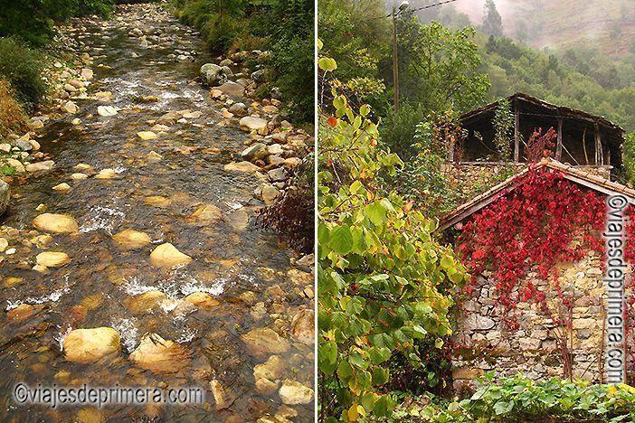 El río Infierno pasa por Espinaredo, el pueblo de los hórreos de Asturias