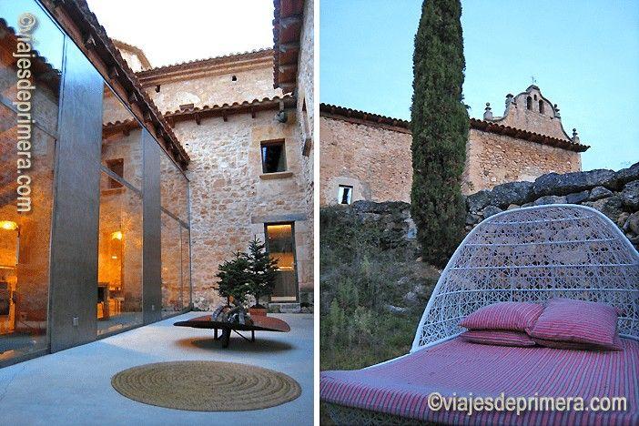 La gastronomía con productos locales y la piscina forman parte de las ofertas de ocio del hotel Consolación, corazón del diseño en Matarraña, Teruel.