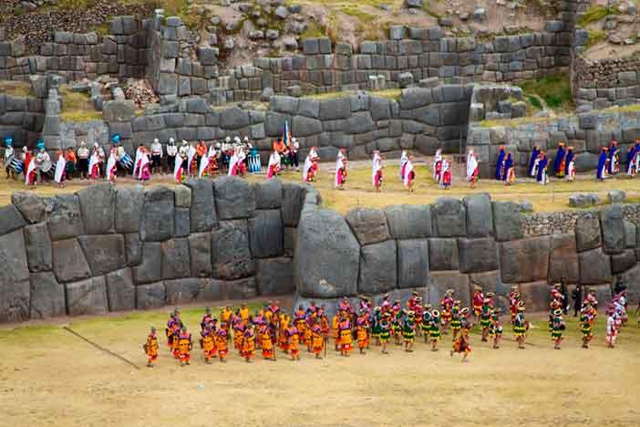 La fortaleza de Sacsayhuamán es uno de los escenarios del Inti Raymi en Cuzco