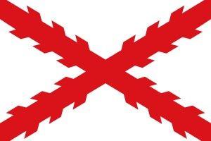 BANDERA-TERCIOS-CAMINO-ESPAÑOL-CAMINO-ESPANOL-MILAN-RUTAS-HISTORICAS-CICLOTURISMO-EUROPA