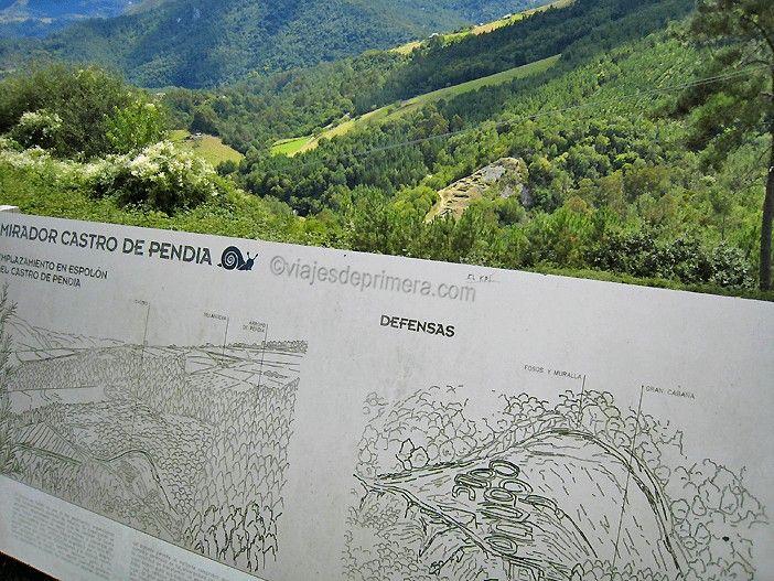 El castro de Pendía, en Asturias, es el que más impresiona por su construcción sobre un espolón de tierra, prácticamente aislado