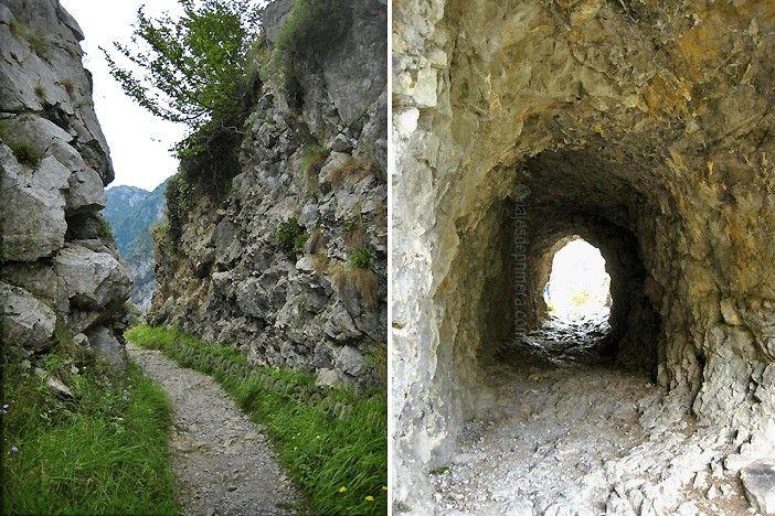 El Desfiladero de las Xanas de Asturias es una ruta de senderismo de dificultad baja que se puede realizar, ida y vuelta, en poco más de 3 horas