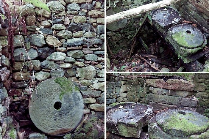 Durante el recorrido del Desfiladero de las Xanas se pueden encontrar vestigios de actividad humana, como este molino abandonado