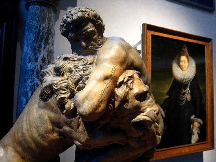 Detalle del taller de trabajo de Rubens en la Rubenshuis, su Casa-Museo en Amberes.