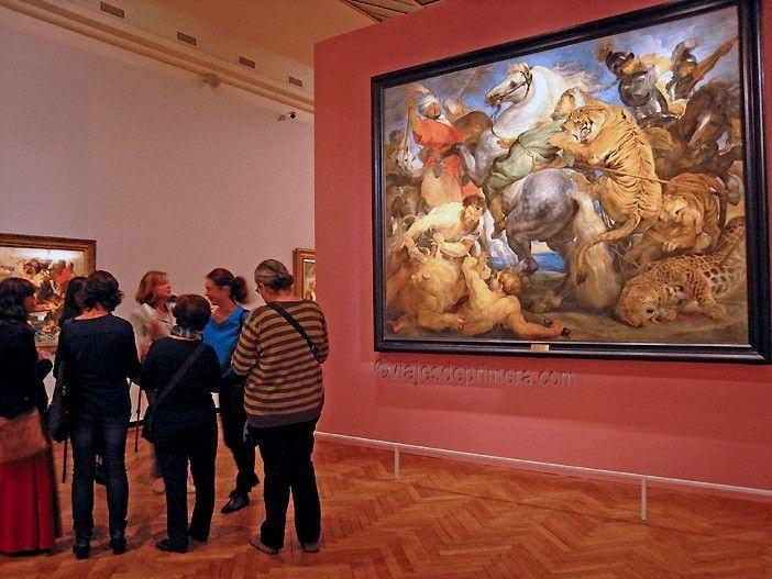 'La caza del tigre, el león y el leopardo', de Rubens, en la exposición 'Sentido y Sensibilidad' del BOZAR.