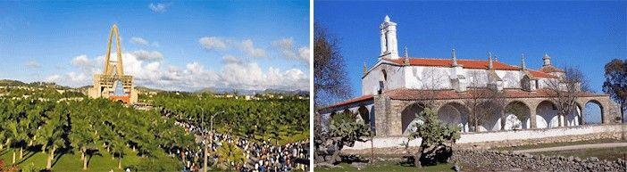 La Basílica de Igüey, en República Dominicana, y de la ermita garrovillense en honor a la Virgen de Altagracia. Fotografía de Isidro García Barriga.