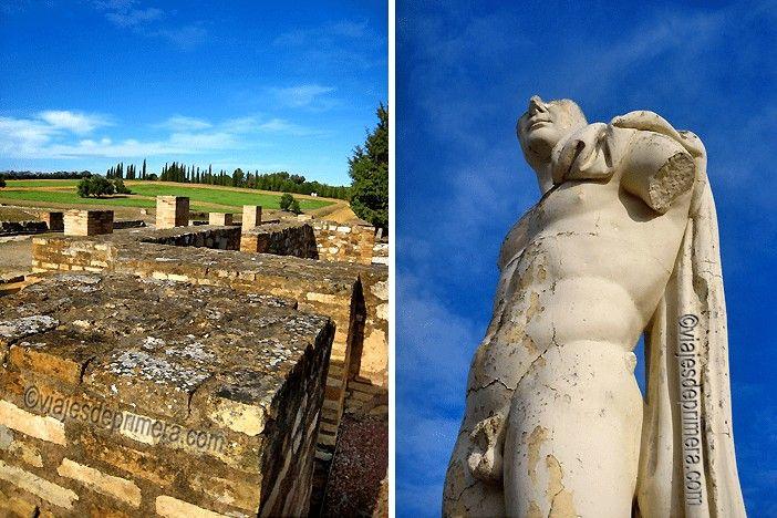 Ruinas de la ciudad romana de Itálica, un tesoro casi secreto en Sevilla y el extremo andaluz de la Vía de la Plata.