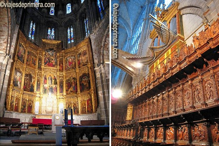 Altar y coro de la Catedral de Ávila.