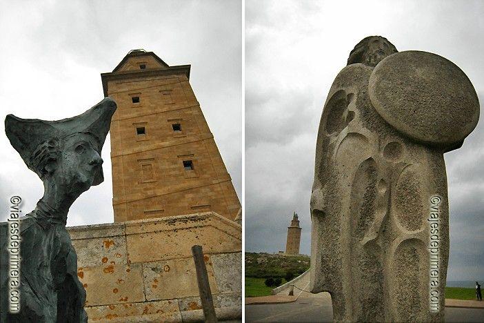 Qué ver en A Coruña con niños: la Torre de Hércules y el Parque escultórico que al lado