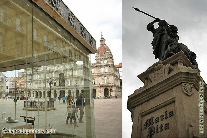 Cosas que hacer en A Coruña, ver a María Pita y tapear por el centro histórico alrededor de su Plaza