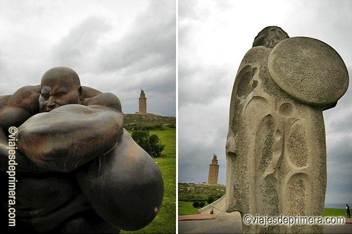 Que hacer en A Coruña: pasear por el paseo marítimo hasta la Torre de Hércules y el Parque escultórico