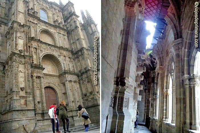 Exterior de la Catedral y uno de los lugares, cerca del claustro, en el que se el avance de la construcción nueva tocando casi la antigua.