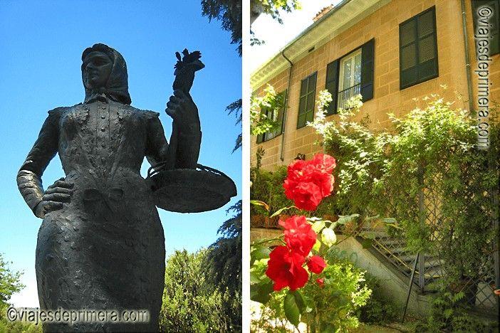 La chulapa no es La Latina pero tienen en común que son un poco echadas para adelante. A la derecha, el antiguo palacio de los Príncipes de Anglona desde su coqueto jardín, hoy abierto al público.