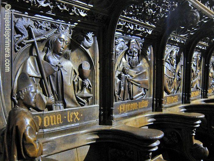 Otra de las joyas de la Catedral de León es su coro. Su sillería es una de las más antiguas de España.