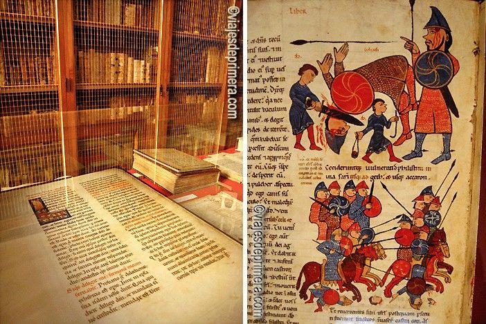 La Biblioteca de la Colegiata de San Isidoro de León conserva algunos ejemplares únicos en la Historia.