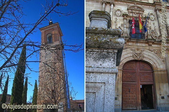 Capilla del Oidor y fachada universitaria en Alcalá de Henares, cuna de Miguel de Cervantes, en Madrid