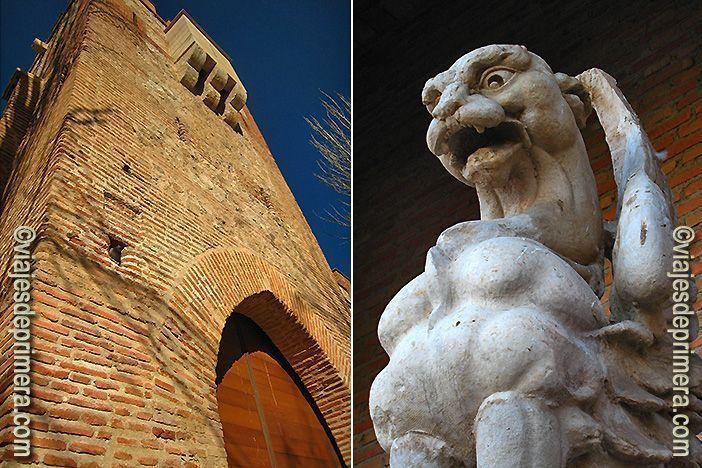 Entrada y detalle del Scriptorium de Alcalá de Henares, en Madrid