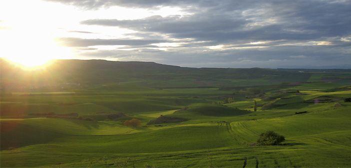 Paisaje de La Rioja desde los alrededores de la Hospedería La Calera, cerca de San Millán de la Cogolla