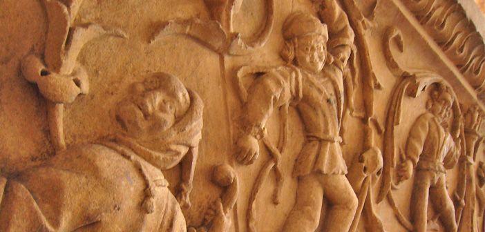 Detalle de la decoración de la Escalera del Conocimiento de la USAL o Universidad de Salamanca