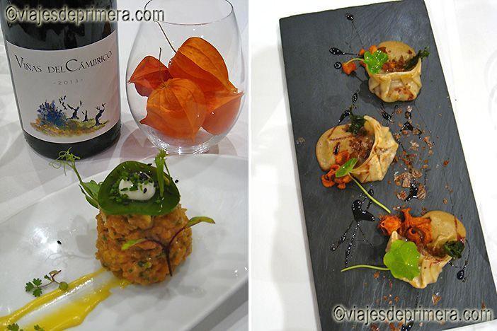 Aperitivos y empanadillas coreanas,gyozas, en el restaurante OroViejo de Salamanca