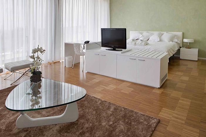 Habitación diseñada por Javier Arizcuren para el hotel Finca Los Arandinos