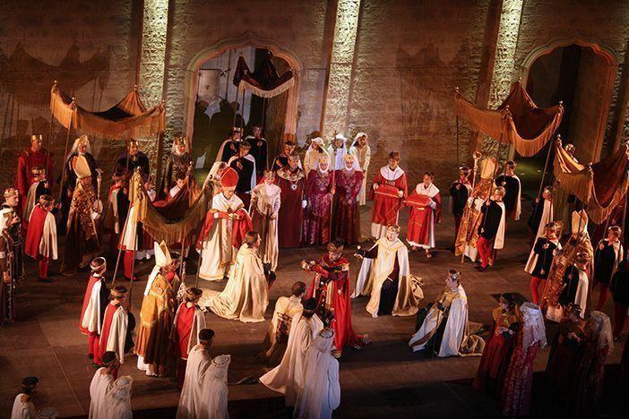Escena de la representación medieval Crónicas Najerenses, La Rioja