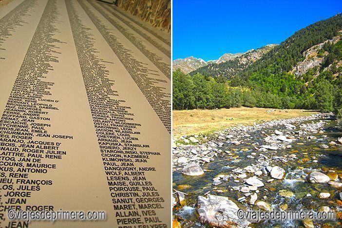 Los nombres de los refugiados que pasaron por la prisión museo de Sort se exponen en su entrada. Cruzaban los picos más altos del Pirineo de Lérida a través de los pasos utilizados por los exiliados de la Guerra Civil española.