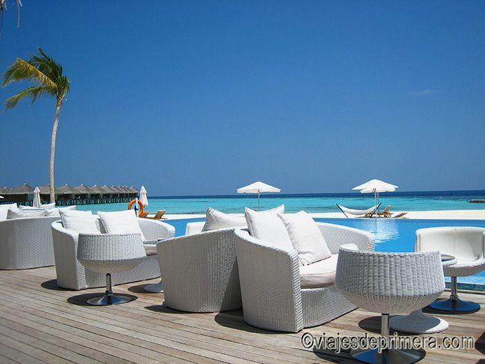 Las zonas chill out de los hoteles y resorts de Maldivas son una buena opción para las noches en las islas