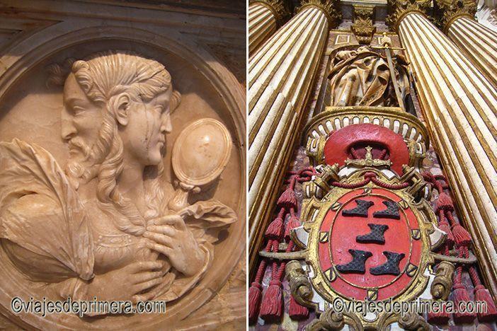 Fotos de la Catedral de Burgos con detalles de la decoración interior