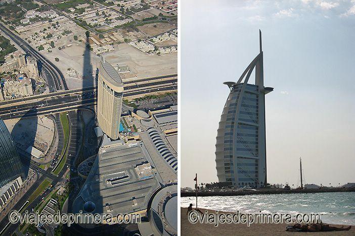 Las dos torres más representativas de Dubái son el Burj Khalifa y el Burj Al Arab.
